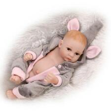 "11""Handmade Reborn Newborn Mini Baby Doll Full Soft Silicone Vinyl Bath Boy Girl"