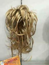 Golden Blonde Mix wire braid claw clip Cute ponytail hair pieces wig FYTLF012