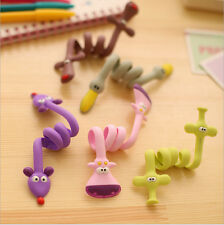10pcs Cute Animal Organizer USB Cable Holder Earphone Wrap Wire Winder Cord New