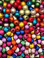 "1,750 ""AMAZING"" 8MM Mixed Color ACRYLIC MIRACLE BEADS - Hole/Opening 1.5-2mm"