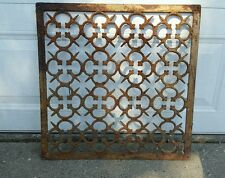 "Vintage VICTORIAN Cast Iron Floor Grille Heat Grate Register 24"" long x 24"" wide"