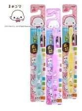 *CUTE PASTEL COLOR* San-X MAMEGOMA Kid's Toothbrush PINK BLUE WHITE Set