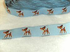 Webband Bordüre Borte Rehkitz Reh Bambi 16 mm blau