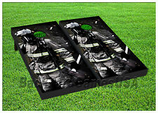 VINYL WRAPS Cornhole Boards DECALS Firefighters BagToss Game Stickers 380