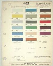 1972 AMC PPG   COLOR PAINT CHIP CHART JAVELIN AMX  MORE