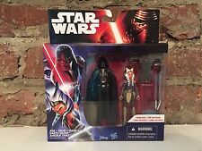 Darth Vader & Ahsoka Tano Star Wars Force Awakens Hasbro Toy 2 Pack Disney Movie