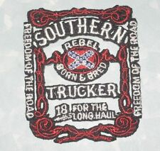 Southern Trucker Patch -  Born & Bred - 18 Wheels for the Long Haul
