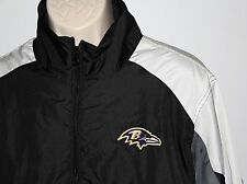 Mens Baltimore Ravens Purple Touchback Half Zip Pullover Jacket