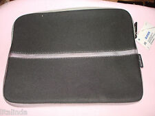 """BLACK/GREY  NOTEBOOK LAPTOP SLEEVE CASE CARRY BAG POUCH COVER 13"""" BY TARGUS  NWT"""