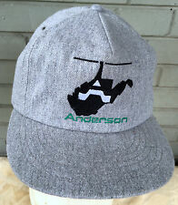 Anderson Helicopter Aviation Gray Wool Snapback Baseball Cap Hat
