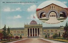Old Postcard - Stanford University & Memorial Church - Palto Alto CA