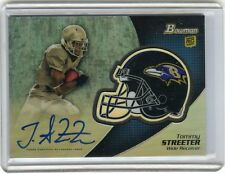 2012 BOWMAN #BCRA-TS TOMMY STREETER AUTOGRAPH AUTO ROOKIE RC - BALTIMORE RAVENS