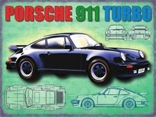 Porsche 911 Turbo, Classic Sports Car, Automobile,Garage, Large Metal/Tin Sign,