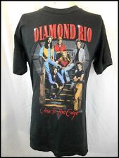 Vintage 90s Black Cotton Diamond Rio Close To The Edge USA Country Rock T-shirt