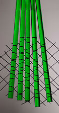 "5 CLEAR GREEN 1/2"" DIAMETER 12"" INCH LONG ACRYLIC PLEXIGLASS LUCITE COLORED ROD"