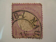 GERMANY  Sc  1  Empire small shield  USED (rounded top right corner)  Cat $95
