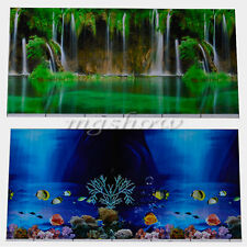 New Double Sided Aquarium Landscape Poster Tank Background Picture Wall Decor