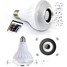2X LED Light Bulb Lamp Color E27 Bluetooth Wireless Music Speaker for Smartphone