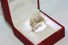 Vintage Statement CZ Mens Versace 10K Yellow Solid Gold Medusa Head Ring Sz 10.5