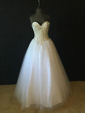 Prom, Pageant, Quinceanera, Formal Occasion Mori Lee Dress - White - 97066