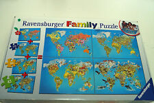 Ravensburger Family Puzzle Jigsaw World Maps 4 Puzzles: 42, 80, 270, 550 Pieces