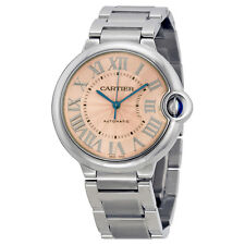 Cartier Ballon Bleu De Cartier Pink Dial Stainless Steel Watch W6920041