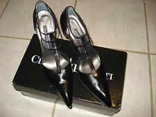 CESARE PACIOTTI LEATHER SHOES  SIZE  38.5  NERO MADE IN ITALY  BLACK
