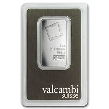 1 oz Valcambi Suisse Platinum Bar - In Assay