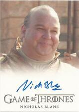"GAME Of Thrones Stagione 3-Nicholas blane ""Spice KING"" Autograph CARD"