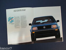 1990 Volkswagen Golf/GTI Sales Brochure C7405