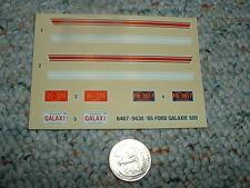 AMT Ertl decals 1/24 1/25 1965 Ford Galaxie 500  F165