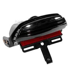 Smoked Tri-Bar Fender LED License Plate Bracket Tail Light for Harley Davidson