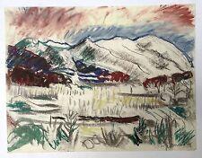 Willy Eisenschitz pastel sur papier signée Expressionnisme cubisme Vienne
