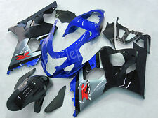 Injection Blue Black Fairing Fit for 2004-2005 K4 K5 Suzuki GSXR 600 750 Set