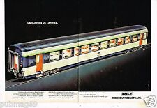 Publicité advertising 1977 (2 pages) Train SNCF