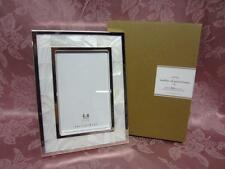 "Pottery Barn Accents Mother of Pearl Rectangular Frame 4"" x 6"" Photo Ivory NIB"