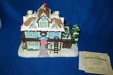 """ELF DORMITORY"" HAWTHORNE RUDOLPH'S CHRISTMAS TOWN LIGHTED HOUSE - MIB"