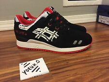 25th Anniversary Titolo x Asics Gel Lyte III GL3 PAPERCUT Black Red 10