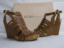 BCBGeneration BCBG Size 5.5 M Blayne Saddle Leather Wedges New Womens Shoes