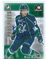 Ryan HARTMAN Signed 2013/14 Heroes and Prospects 10th Anniversary Card Whalers