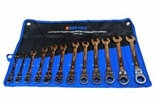 BERGEN 12pc FLEXI HEAD METRIC COMBINATION SPANNER SET B1893