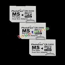 Doppio slot per micro SD SDHC TF a MS Pro Duo Adapter Converter per PSP
