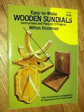 EASY TO MAKE WOODEN SUNDIALS