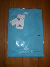 NWT $49.50 LACOSTE Mens Light Blue Teal  V-Neck Tee Shirt  - Size 4 US  Small
