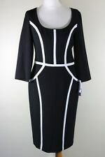 Stunning Nine West Black with Asymmetrical White Stripes World Wide Free Postage