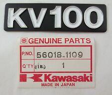NOS KAWASAKI KV100 Oil Tank Emblem