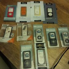 Bundle of 11 Apple 4G iPod Nano Cases - Leather & Silicon