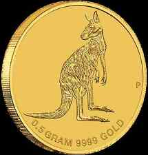 Australia 2016 Mini Roo Kangaroo $2 Gold Coin 0.5 Gram .9999 Pure Gold in Card
