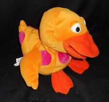 GYMBOREE YELLOW BABY DUCK PINK POLKA DOTS HAND PUPPET STUFFED ANIMAL PLUSH TOY