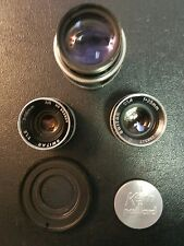 kern paillard c mount 16mm lens set